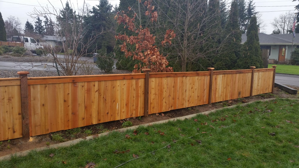 wood fence in Bonney Lake